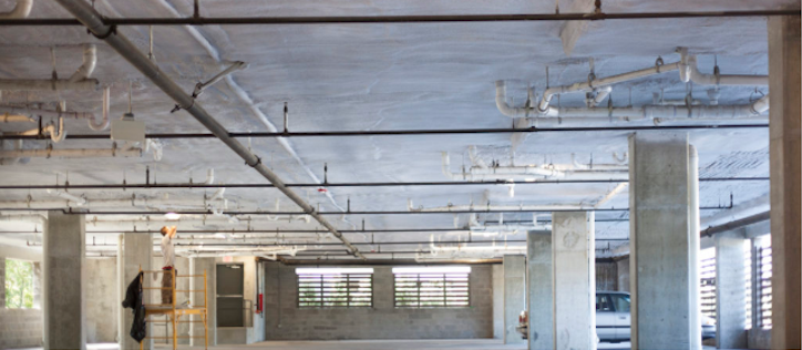 Closed Cell Spray Foam Insulation Parking Garage