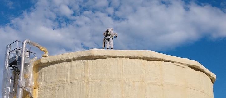 Storage Container Spray Foam Insulation Texas