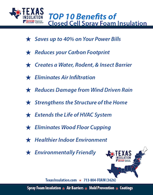 Closed Cell Top Ten Benefits